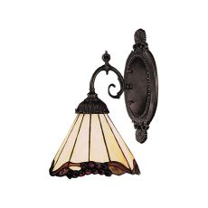 Mix-N-Match 1 Light Wall Sconce In Tiffany Bronze And Honey Dune Glass
