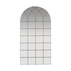 Gilded Arch Floor Mirror, Distressed Bronze