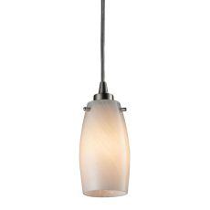 Favelita 1 Light Pendant In Satin Nickel And Cocoa Glass