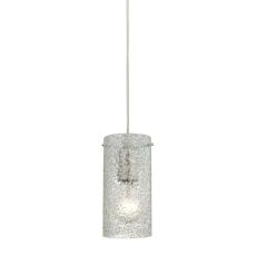 Ice Fragments 1 Light Pendant In Satin Nickel And Clear Glass