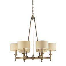 Pembroke 6 Light Chandelier In Brushed Antique Brass