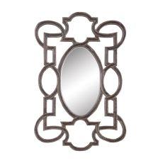Somerset Heritage Mirror, Heritage Grey Stain, Champagne
