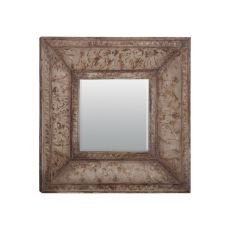 Stamped Metal Mirror, Siganture Heavy Distressed