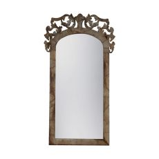 Artifacts Architectural Floor Mirror, Natural Aged Old Tin