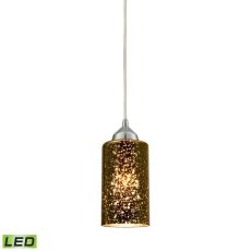 Illusions 1 Light Led Pendant In Polished Chrome