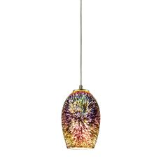 Illusions 1 Light Pendant In Satin Nickel