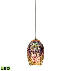 Illusions 1 Light Led Pendant In Satin Nickel