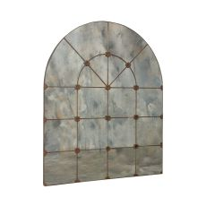 Gilded Arch Mirror, Black