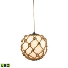 Coastal Inlet 1 Light Led Pendant In Oil Rubbed Bronze