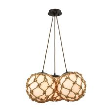 Coastal Inlet 3 Light Chandelier In Oil Rubbed Bronze