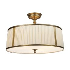 Williamsport 4 Light Semi Flush In Vintage Brass Patina