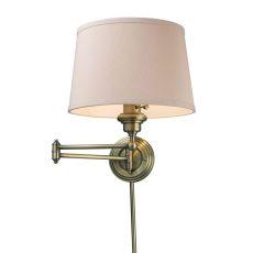 Westbrook 1 Light Swingarm Sconce In Antique Brass