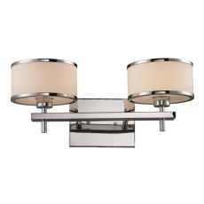Utica 1 Light Vanity In Polished Chrome And White Glass