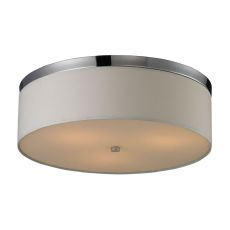 Flushmounts 3 Light Flushmount In Polished Chrome And Frosted White Glass