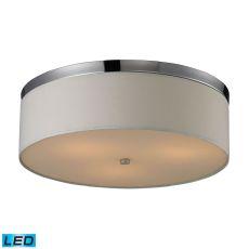 Flushmounts 3 Light Led Flushmount In Polished Chrome And Frosted White Glass