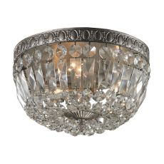 Flushmounts 3 Light Flushmount In Sunset Silver And Clear Crystal Glass