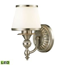 Smithfield 1 Light Led Vanity In Brushed Nickel And Opal White Glass