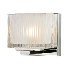 Chiseled Glass 1 Light Vanity In Polished Chrome