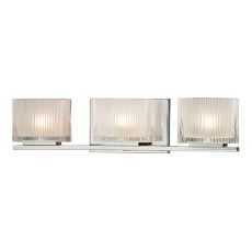 Chiseled Glass 3 Light Vanity In Polished Chrome