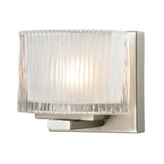 Chiseled Glass 1 Light Vanity In Brushed Nickel