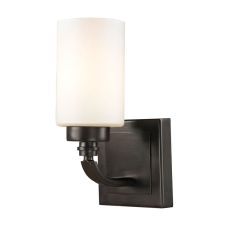 Dawson 1 Light Vanity In Oil Rubbed Bronze And Opal White Glass