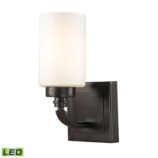 Dawson 1 Light Led Vanity In Oil Rubbed Bronze And Opal White Glass