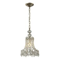 Sasha 1 Light Penant In Aged Silver