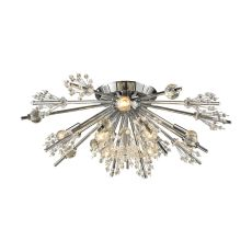 Starburst 8 Light Semi Flush In Polished Chrome