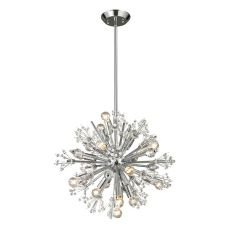 Starburst 15 Light Chandelier In Polished Chrome