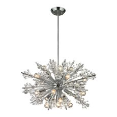Starburst 19 Light Chandelier In Polished Chrome