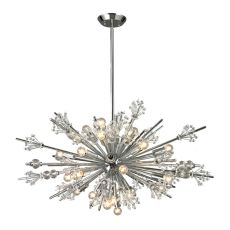 Starburst 24 Light Chandelier In Polished Chrome