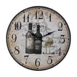 Wine Bottles Wall Clock