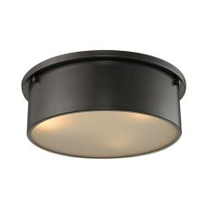 Simpson 3 Light Flushmount In Oil Rubbed Bronze