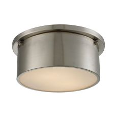 Simpson 2 Light Flushmount In Brushed Nickel