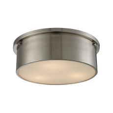 Simpson 3 Light Flushmount In Brushed Nickel