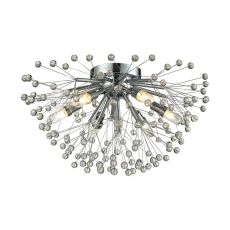 Starburst 6 Light Semi Flush In Polished Chrome
