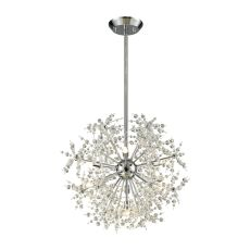 Snowburst 7 Light Chandelier In Polished Chrome