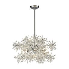 Snowburst 11 Light Chandelier In Polished Chrome