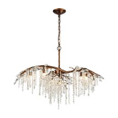 Elia 6 Light Chandelier In Spanish Bronze