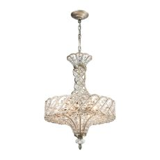 Cumbria 6 Light Chandelier In Aged Silver