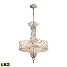 Cumbria 6 Light Led Chandelier In Aged Silver
