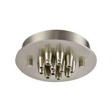 Illuminaire Accessories 12 Light Small Round Canopy In Satin Nickel