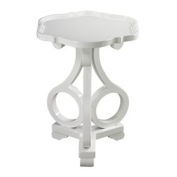 Knockeen Gloss White Accent Table By