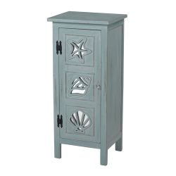 Normandy Shore Mirrored Seashell Cabinet By