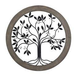 Rossington-Circular Wall Panel With Tree Of Life