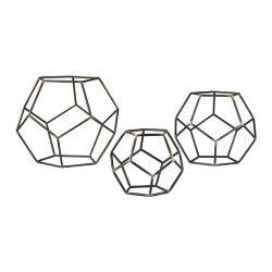 Set Of 3 Geometric Orbs
