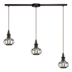 Yardley 3 Light Pendant In Oil Rubbed Bronze