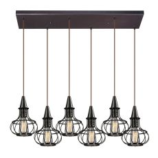 Yardley 6 Light Pendant In Oil Rubbed Bronze