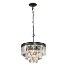 Palacial 4 Light Pendant In Oil Rubbed Bronze