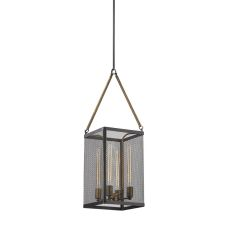 Donovan 4 Light Chandelier In Wrought Iron Black And Antique Gold